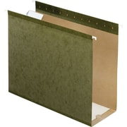 Pendaflex® Box-Bottom Hanging File Folders, Letter, 4 Capacity, Standard Green, 25/Box