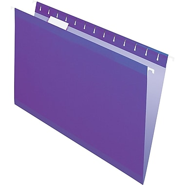 Pendaflex 5 Tab Hanging File Folders, Legal, Violet, 25/Box