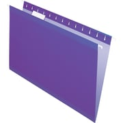 Pendaflex® Reinforced Hanging File Folders, 5 Tab Positions, Legal Size, Violet, 25/Box (4153 1/5 VIO)