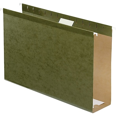 Pendaflex Box-Bottom Hanging File Folders, Legal, 3in. Capacity, Standard Green, 25/Box