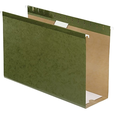 Pendaflex Box-Bottom Hanging File Folders, Legal, 4in. Capacity, Standard Green, 25/Box