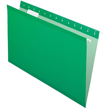 Pendaflex 5 Tab Hanging File Folders, Legal, Bright Green, 25/Box