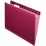 Pendaflex® 5 Tab Hanging File Folders, Letter, Burgundy, 25/Box