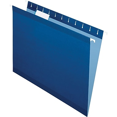 Pendaflex® Reinforced Hanging File Folders, 5 Tab Positions, Letter Size, Navy, 25/Box (4152 1/5 NAV)