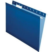 Pendaflex® 5 Tab Hanging File Folders, Letter, Navy, 25/Box