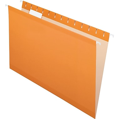 Pendaflex 5 Tab Hanging File Folders, Legal, Orange, 25/Box