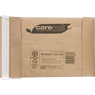Caremail Padded Mailers, #0, 5-7/8in. x 8.75in.