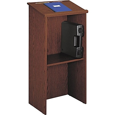 Safco® Stand-Up Lectern With Adjustable Shelf, Cherry