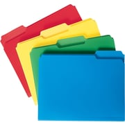 Smead® Poly File Folders, Letter, Assorted, 24/Box