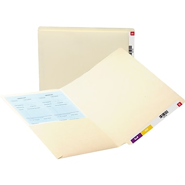 Smead Manila End-Tab Pocket Folders, Letter, 50/Box