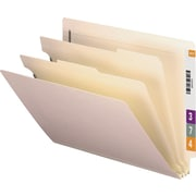 Smead® End-Tab Manila Classification Folders, Letter, 2 Partitions, 10/Box