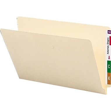 Smead Manila End-Tab File Folders, Legal, 100/Box