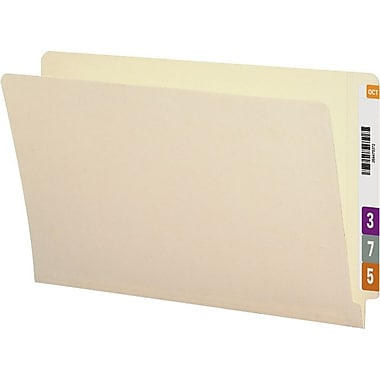 Smead® Reinforced End-Tab Folders, Legal, Single-Tab, 9-1/2in. Front, 100/Box