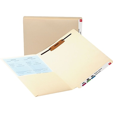Smead Manila End-Tab Pocket Folders w/Fastener, Letter, 50/Box