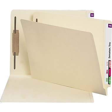 Staples Manila End-Tab Fastener Folders with Reinforced Tab, Letter, 50/Box