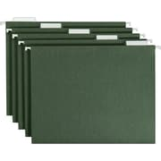 Smead® Standard Green Hanging File Folders, 5 Tab, Letter, 25/Box