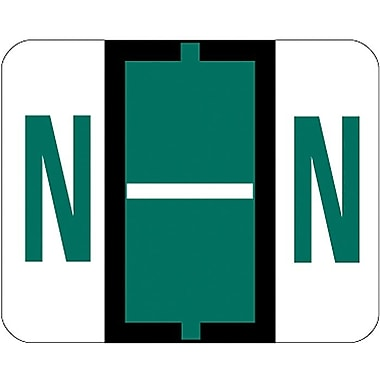 Smead® End-Tab Bar Style Color-Coded Labels, in.Nin., Dark Green