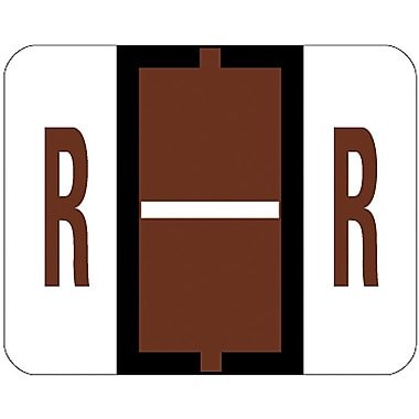 Smead® End-Tab Bar Style Color-Coded Labels, in.Rin., Brown