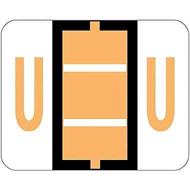 Smead® End-Tab Bar Style Color-Coded Labels, in.Uin., Light Orange