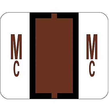 Smead® End-Tab Bar Style Color-Coded Labels, in.Mcin., Brown