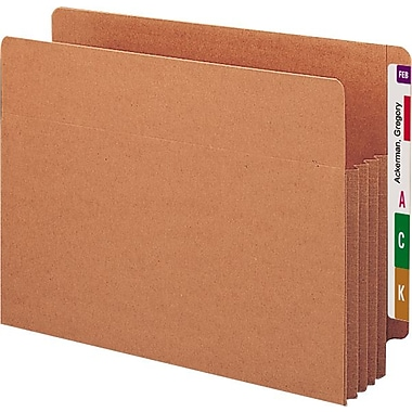 Smead® End-Tab Tuff Pocket® Expanding File Pockets, Letter, 3 1/2in. Expansion, 10/Box