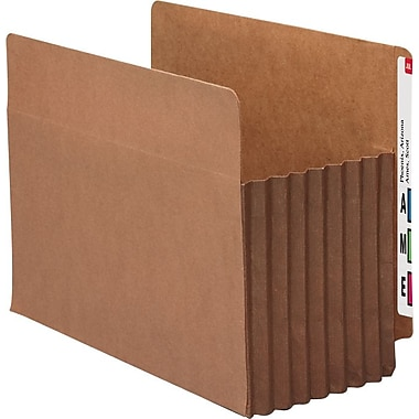 Smead® End-Tab Tuff Pocket® Expanding File Pockets, Letter, 7in. Expansion, 5/Box