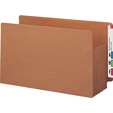 Smead® End-Tab Tuff Pocket® Expanding File Pockets, Legal, 5 1/4in. Expansion, 10/Box