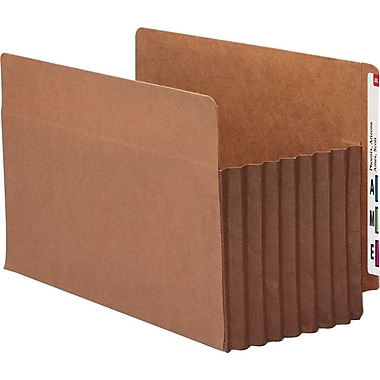 Smead® End-Tab Tuff Pocket® Expanding File Pockets, Legal, 7in. Expansion, 5/Box