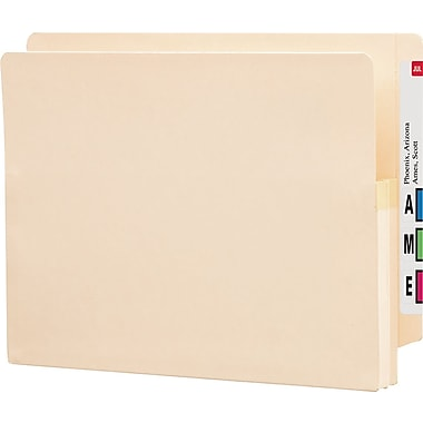 Smead® End-Tab Manila Expanding File Pockets, Letter, 1 3/4in. Expansion, 25/Box
