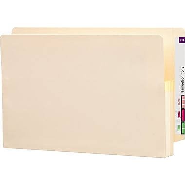 Smead® End-Tab Manila Expanding File Pockets, Legal, 1 3/4in. Expansion, 25/Box