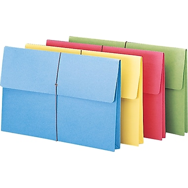 Staples® Colored Expanding Wallets, Legal, 2in. Expansion, 50/Box