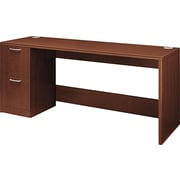 Hon®  Attune Series 72 Right Single Pedestal Credenza, Shaker Cherry