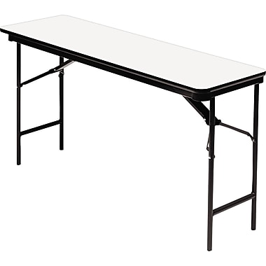 Iceberg 5'x18in. Melamine Laminate Folding Banquet Table, Gray
