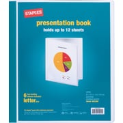 Staples Presentation Binder, 6 Sleeve Capacity, White (21626/21622)