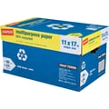 Staples® 50% Recycled Multipurpose Paper,11in. x 17in., Case
