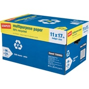 Staples® 50% Recycled Multipurpose Paper,11 x 17, Case
