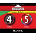 Lexmark 4/5 Black and Color Ink Cartridges (18C2255), 2/Pack