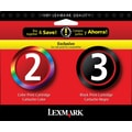 Lexmark 2/3 Black and Color Ink Cartridges (18C1737), 2/Pack