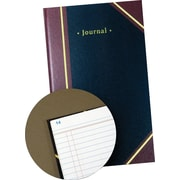 Staples® Black Journal Book, 11-3/4 x 7-1/4