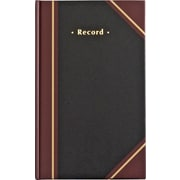 "Staples® Black Record Book, 11-3/4"" x 7-1/4"""