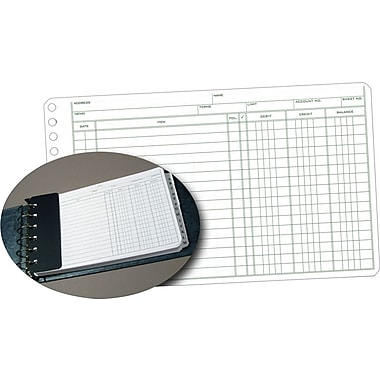 Staples® Ledger Refill Sheets, 5in. x 8-1/2in.