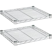 Alera Industrial Wire Shelving, Extra Wire Shelves, Silver, 18 X 18, 2 shelves only