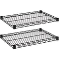 Alera Industrial Wire Shelving, Extra Wire Shelves, Black, 24 X 18, 2 shelves only