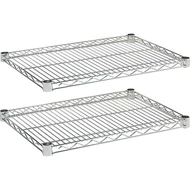Alera Industrial Wire Shelving, Extra Wire Shelves, Silver, 24 X 18, 2 shelves only