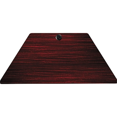 Alera Valencia Series 4' Laminate Trapezoid Training Table, Mahogany