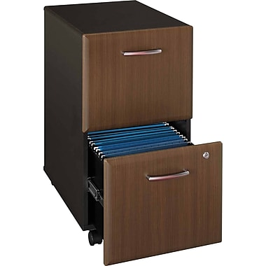 Bush Cubix 2-Drawer File Cabinet, Cappuccino Cherry/Hazelnut Brown