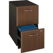 Bush Cubix 2-Drawer File Cabinet, Cappuccino Cherry/Hazelnut Brown, Fully assembled