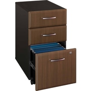 Bush Cubix 3-Drawer File Cabinet, Cappuccino Cherry/Hazelnut Brown, Fully assembled