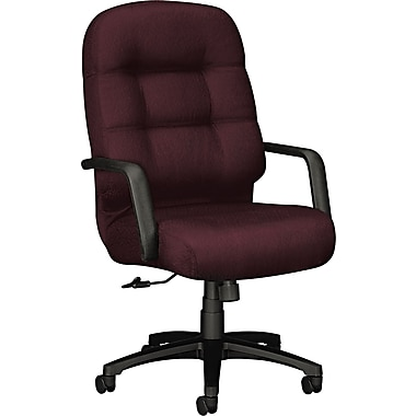 HON® 2091 Pillow-Soft™ Polyester High Back Swivel/Tilt Chair, Wine