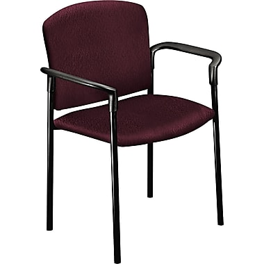 HON® Pagoda 4071 Polyester Stacking Arm Chairs, Wine, 2/Pack